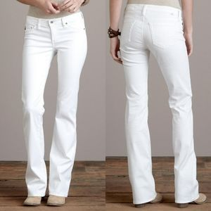 Ag angel boot cut white jeans